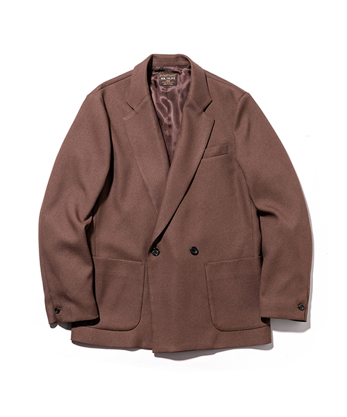 MR.OLIVE / RETRO POLYESTER TWILL / 2B DOUBLE BREASTED JACKET