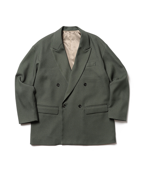 MR.OLIVE / RETORO POLYESTER TWILL / DOUBLE BIG SILHOUTTE SOFT JACKET