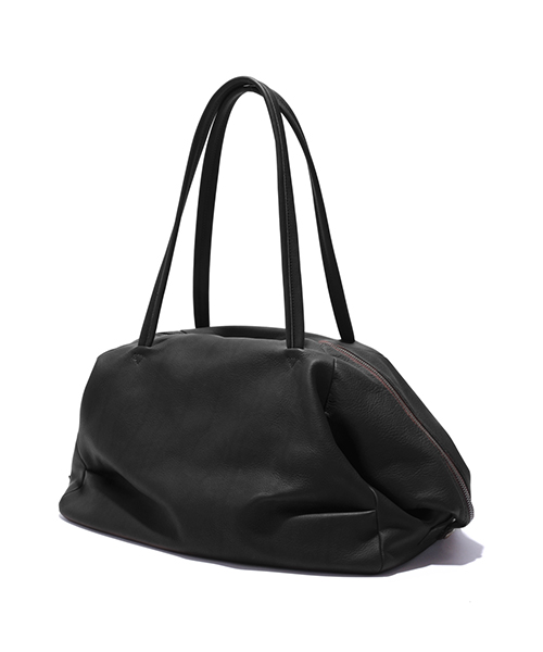 MR.OLIVE E.O.I / WATERPROOF WASHABLE LEATHER DRAPE BOSTON BAG