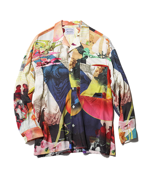 MR.OLIVE×AYANA INOUE / PAINTING COLLAGE BIG SHILHOUETTE L/S SHIRT
