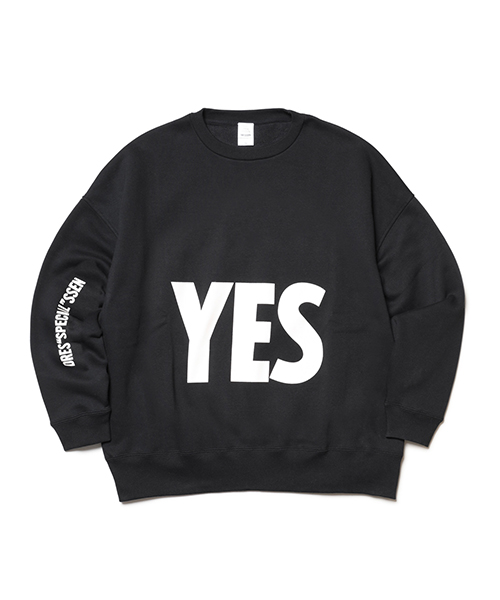"DRESSSEN / DRES""SPECIAL""SSEN SWEAT SHIRTS YES (BLACK COLOR)"