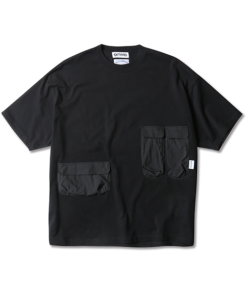 OUTDOOR PRODUCTS×MR.OLIVE / MULTI POCKET T-SHIRT
