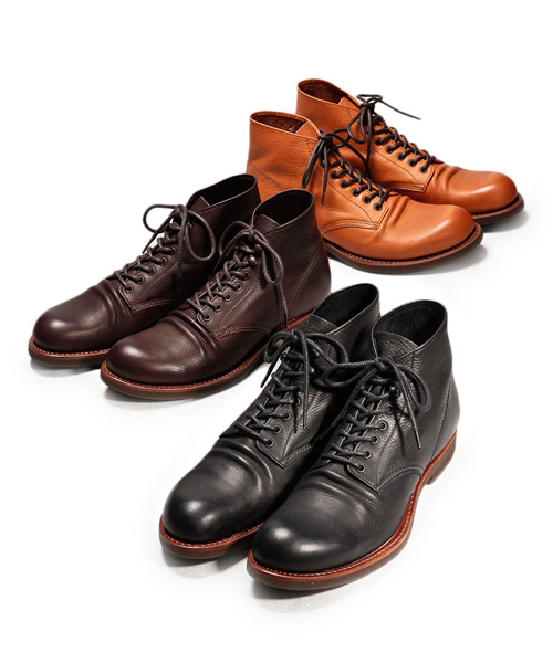 MR.OLIVE E.O.I WATER PROOF SHIRINK LEATHER / SEVEN HOLE HUNTING BOOTS