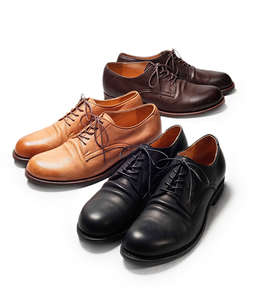 MR.OLIVE E.O.I WATER PROOF SHIRINK LEATHER / PLAIN TOE OXFORD SHOES